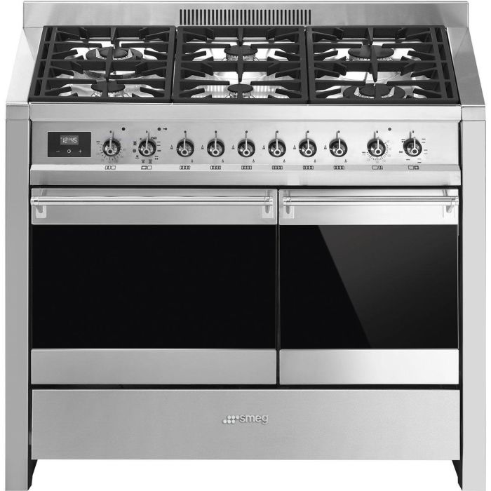Smeg Range Cooker Dual Fuel A2PY-81 - Stainless Steel Image 1
