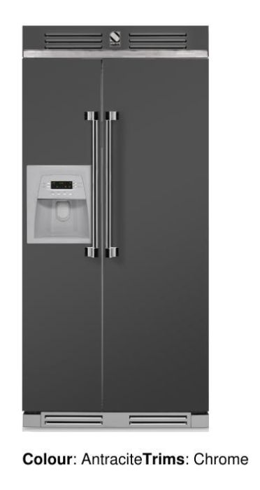 Steel Freestanding American Style Refrigeration AFR-9 - Various Colours Image 1