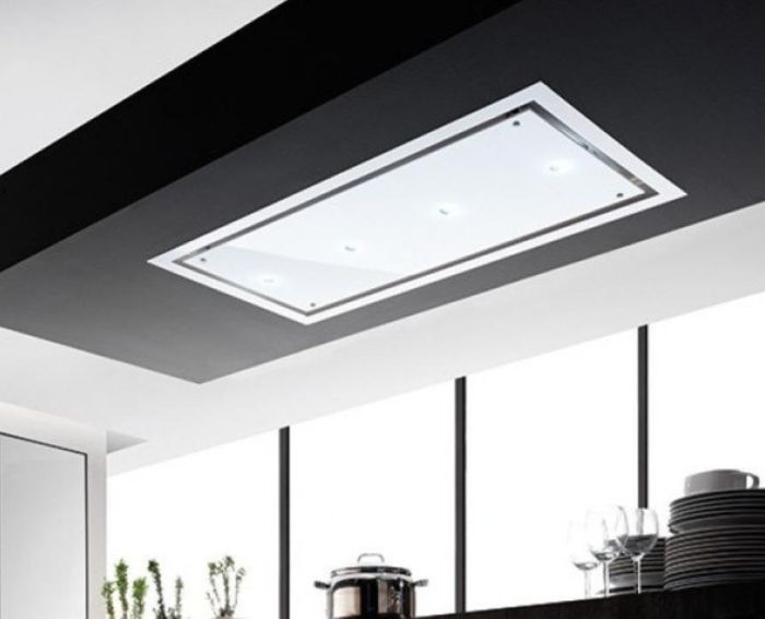 Airuno Ceiling Integrated AU-OTEL90EW-LED - White Frame / White Glass Image 1
