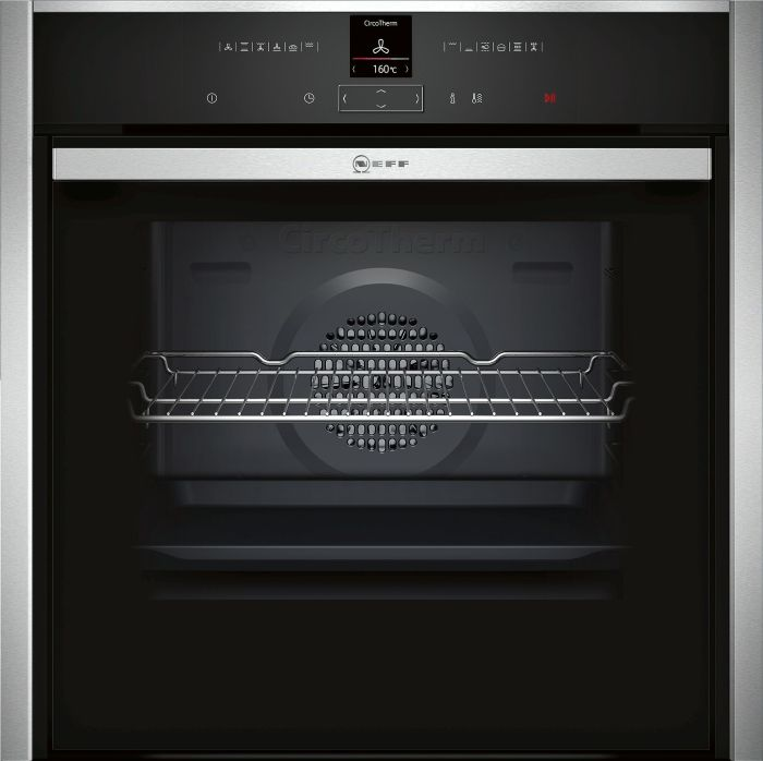 NEFF Single Oven Electric B47CR32N0B - Stainless Steel Image 1