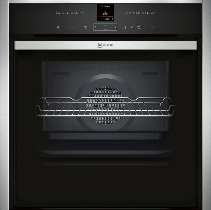 NEFF Single Oven Electric B47VR32N0B - Stainless Steel Image 1