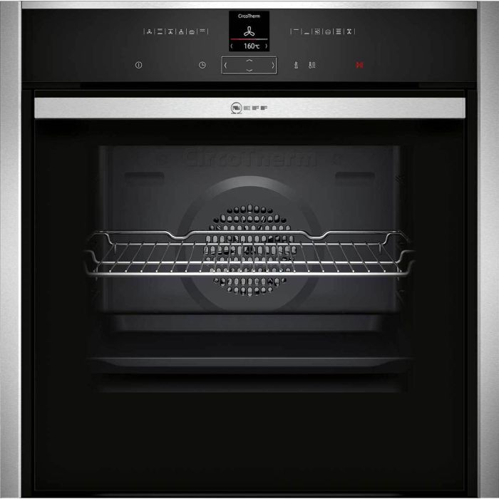NEFF Single Oven Electric B57CR22N0B - Stainless Steel Image 1