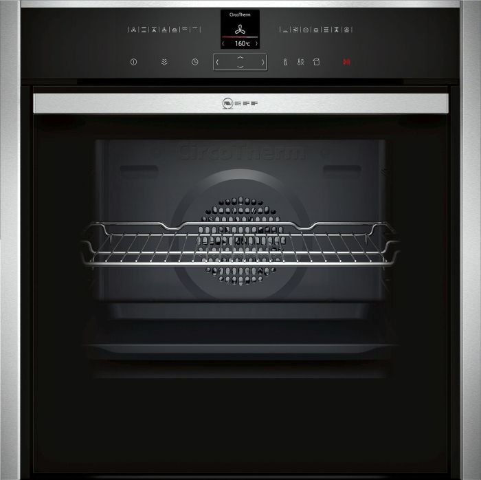 NEFF Single Oven Electric B57VR22N0B - Stainless Steel Image 1