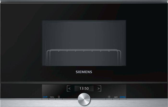 Siemens Microwave & Grill BE634LGS1B - Black Glass / Stainless Trim Image 1