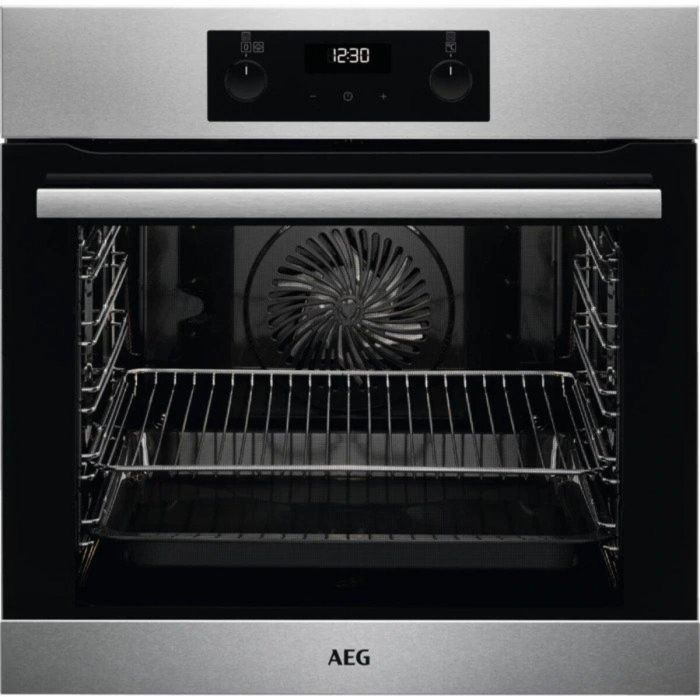 AEG Single Oven Electric BES255011M - Stainless Steel Image 1