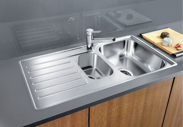 Blanco 1.5 Bowl Sink BLANCOLANTOS-6S-IF - Stainless Steel Image 1