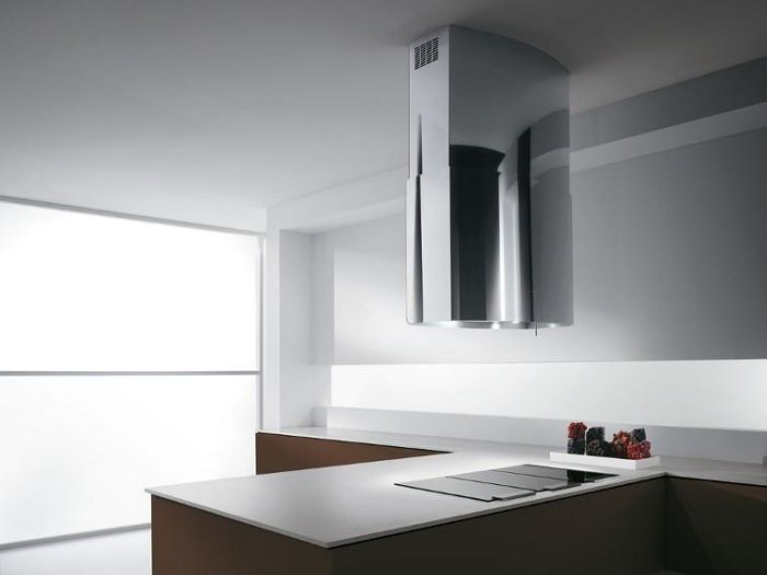Elica Island Hood CHROME85 - Stainless Steel Image 1