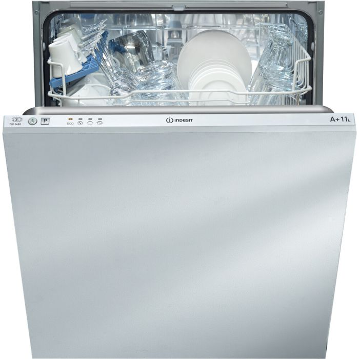 Indesit Built In 60 Cm Dishwasher Fully DIF04B1 - Fully Integrated Image 1