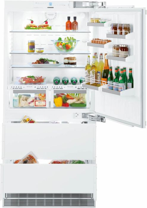 Liebherr Built In Fridge Freezer Frost Free ECBN6156-RH - Fully Integrated Image 1
