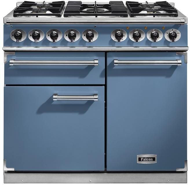 Falcon Range Cooker Dual Fuel F1000DXDFCA-NM - China Blue / Nickel Image 1