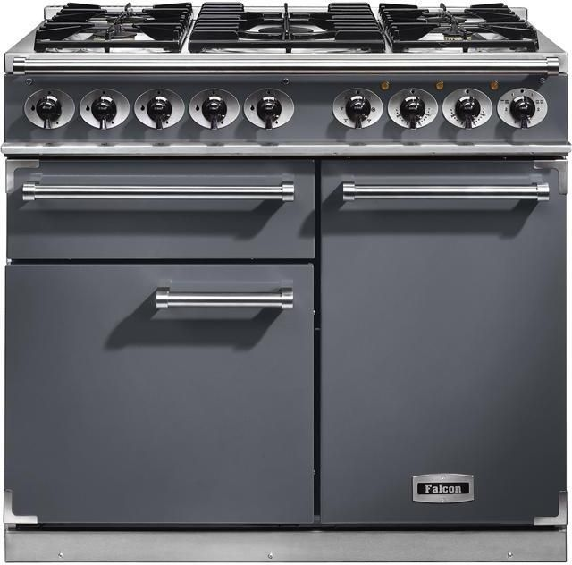 Falcon Range Cooker Dual Fuel F1000DXDFSL-NM - Slate / Nickle Image 1