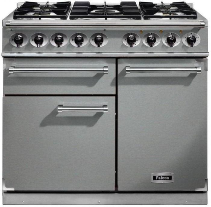 Falcon Range Cooker Dual Fuel F1000DXDFSS-CM - Stainless Steel / Chrome Image 1