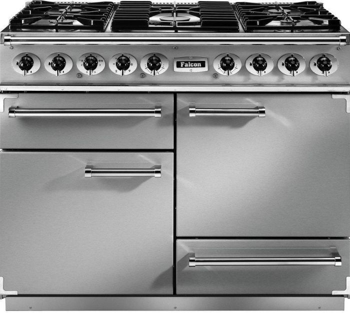Falcon Range Cooker Dual Fuel F1092DXDFSS-CM - Stainless Steel / Chrome Image 1
