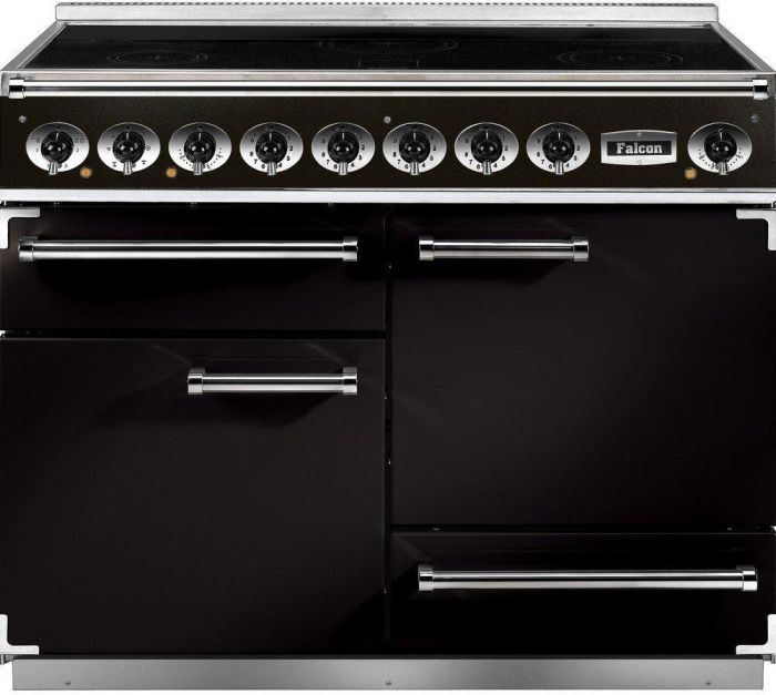 Falcon Range Cooker Induction F1092DXEIBL-C-EU - Black / Chrome Image 1