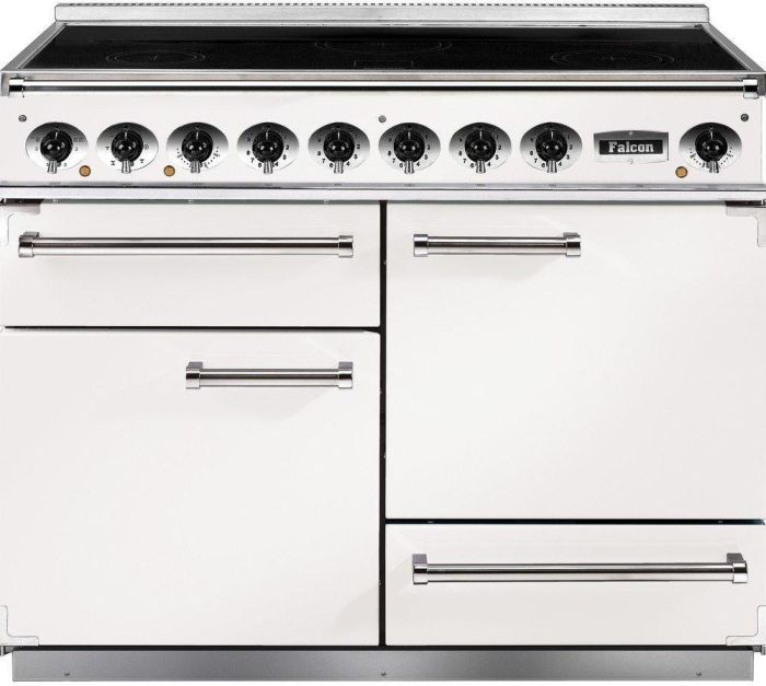 Falcon Range Cooker Induction F1092DXEIWH-N-EU - White / Nickel Image 1