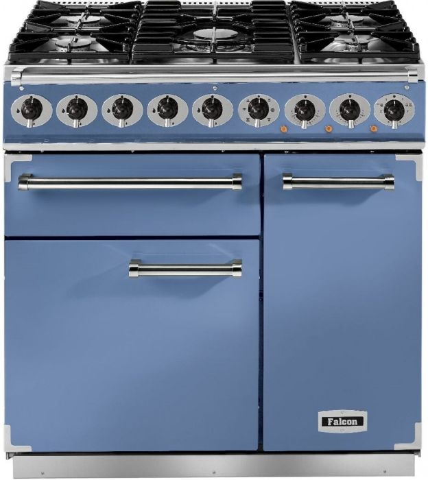 Falcon Range Cooker Dual Fuel F900DXDFCA-NM - China Blue / Nickel Image 1