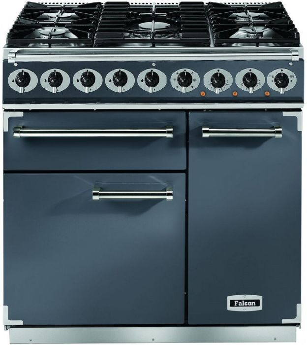 Falcon Range Cooker Dual Fuel F900DXDFSL-NM - Slate / Nickle Image 1