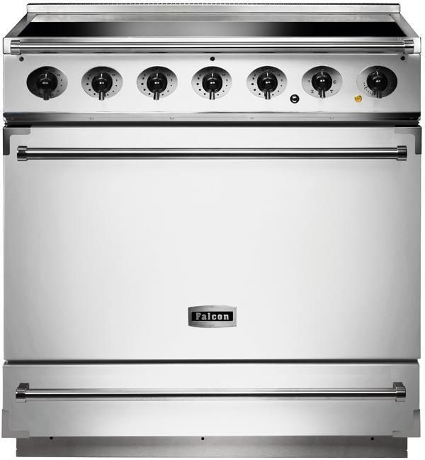 Falcon Range Cooker Induction F900SEIWH-N - White / Nickel Image 1
