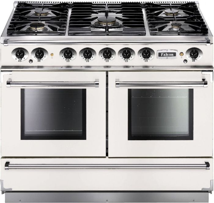 Falcon Range Cooker Dual Fuel FCON1092DFWH-NM - White / Nickel Image 1
