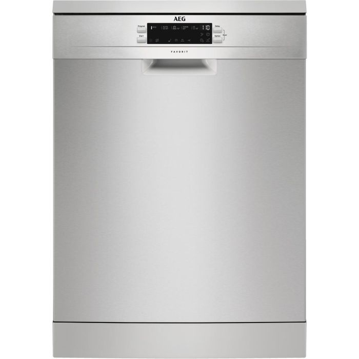 AEG Freestanding 60 Cm Dishwasher FFB53940ZM - Stainless Steel Image 1