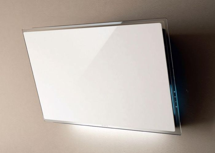 Elica Wall Mounted Hood FILM-WH - White Glass Image 1