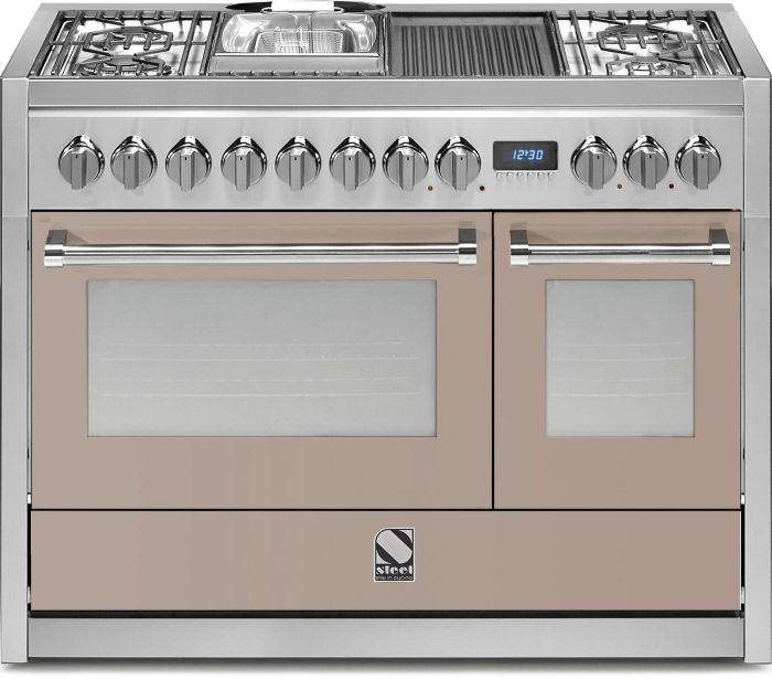 Steel Range Cooker Dual Fuel G12FF-4BM - Various Colours Image 1