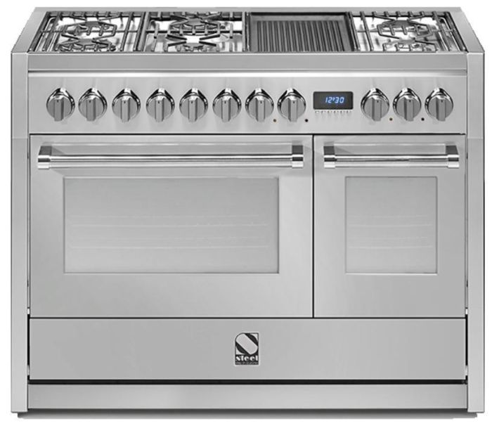 Steel Range Cooker Dual Fuel G12FF-6M-SS - Stainless Steel Image 1