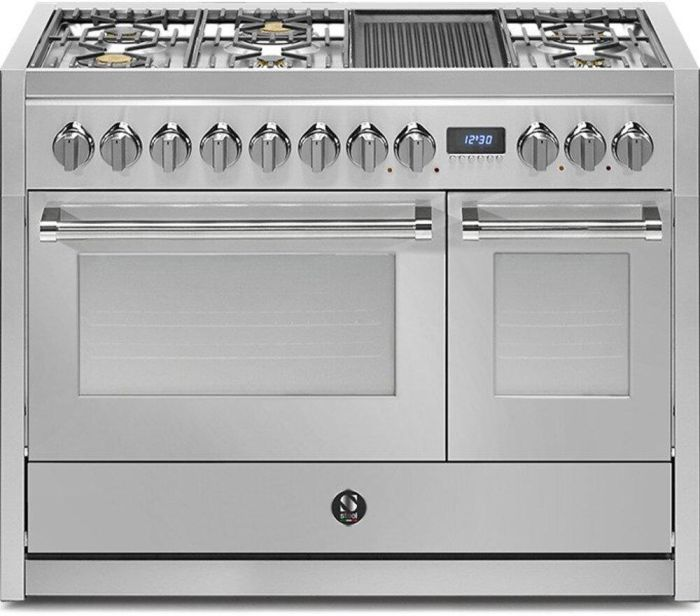 Steel Range Cooker Dual Fuel G12SF-6M-SS - Stainless Steel Image 1