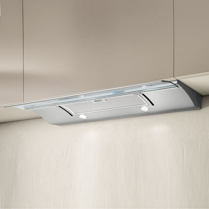 Elica Telescopic Hood GLIDE-LED-60 - Stainless Steel / Glass Image 1