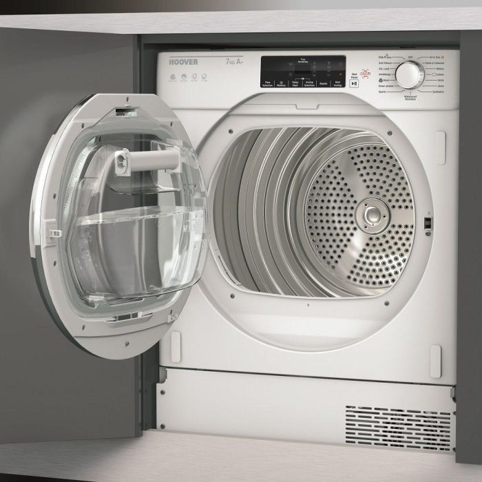 Hoover Built In Condenser Tumble Dryer Heat Pump HBTDWH7A1TCE - Fully Integrated Image 1