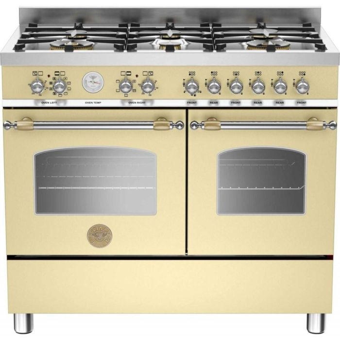 Bertazzoni Range Cooker Dual Fuel HER100-6-MFE-D - Various Colours Image 1