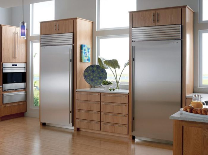 Sub-Zero Built In Upright Freezer ICBBI36F-S-TH-LH - Stainless Steel Image 1