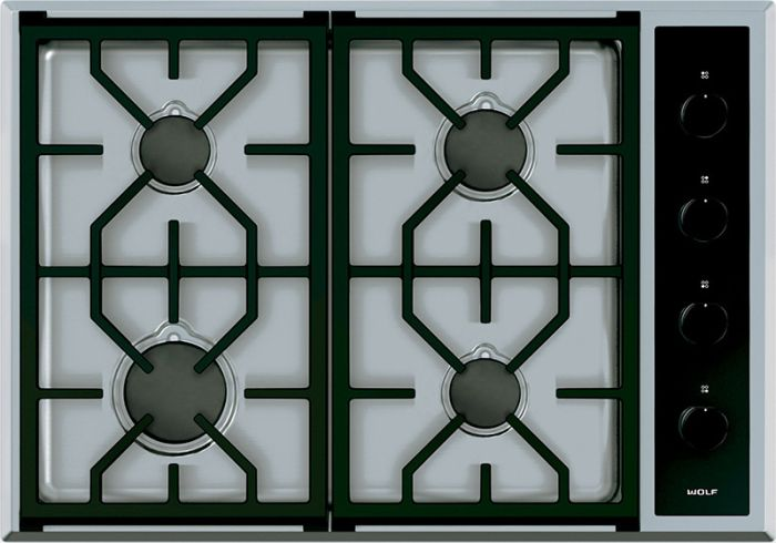Wolf Gas Hob ICBCG304T-S-LP - Stainless Steel Image 1