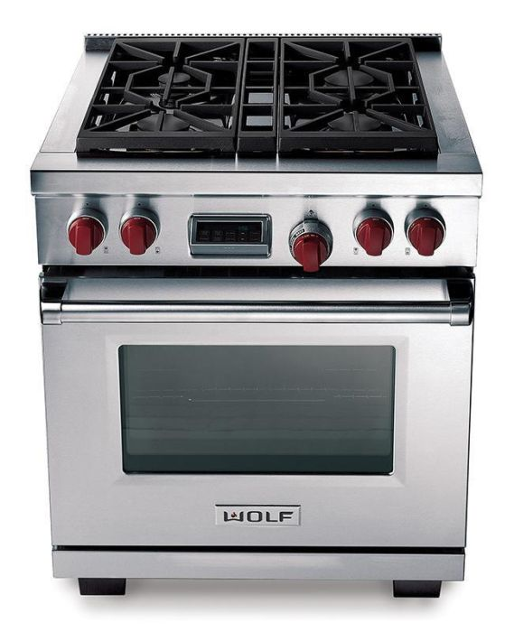 Wolf Range Cooker Dual Fuel ICBDF304 - Stainless Steel Image 1