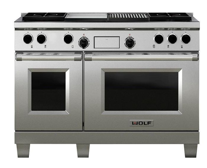 Wolf Range Cooker Dual Fuel ICBDF484CG - Stainless Steel Image 1
