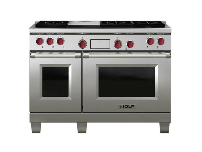 Wolf Range Cooker Dual Fuel ICBDF486G - Stainless Steel Image 1