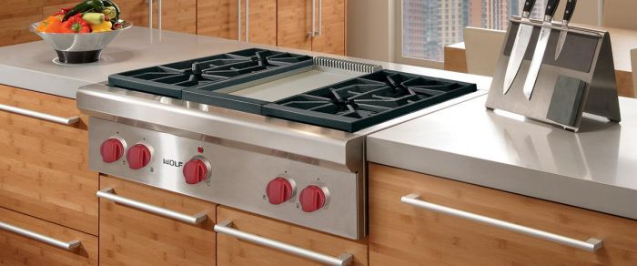 Wolf Gas Range Top ICBSRT364G - Stainless Steel Image 1