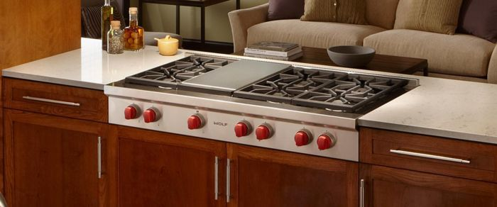 Wolf Gas Range Top ICBSRT486G - Stainless Steel Image 1