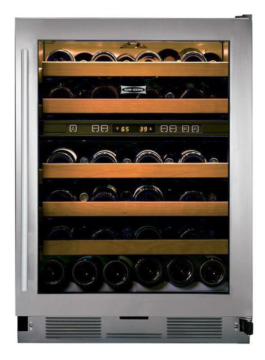 Sub-Zero Built In Wine Cooler ICBUW-24-S-TH-RH - Glass Stainless Image 1