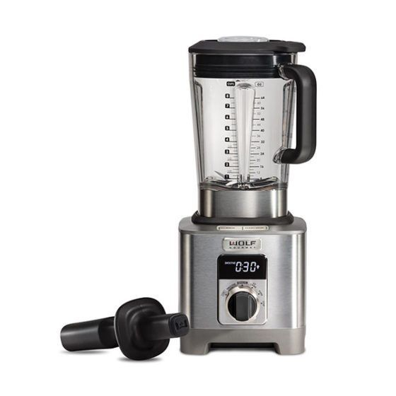 Wolf Blender ICBWGBL110S-UK - Stainless Steel / Black Knob Image 1