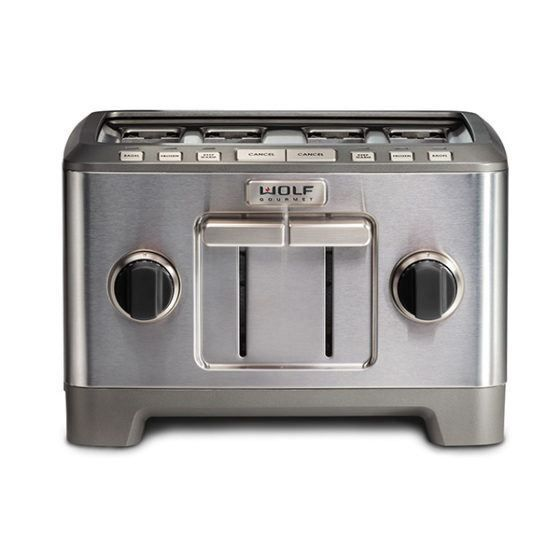 Wolf Toaster ICBWGTR114S-UK - Stainless Steel / Black Knob Image 1