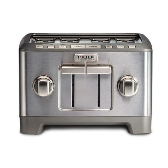 Wolf Toaster ICBWGTR124S-UK - Stainless Steel / Silver Knob Image 1