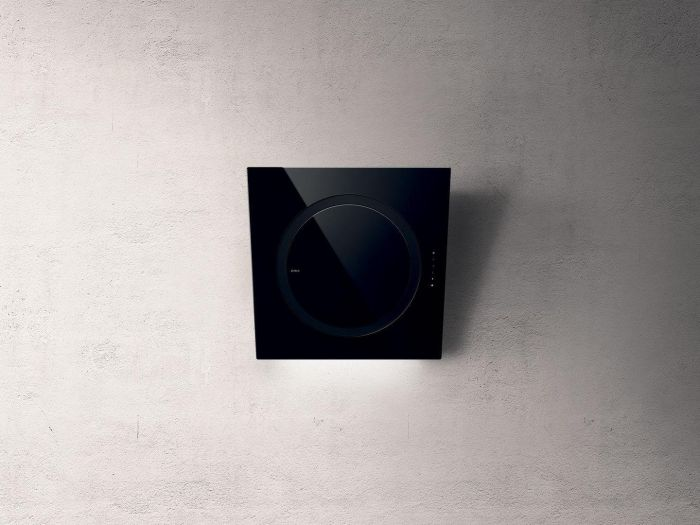 Elica Wall Mounted Hood IO-AIR-BLK - Black Glass Image 1