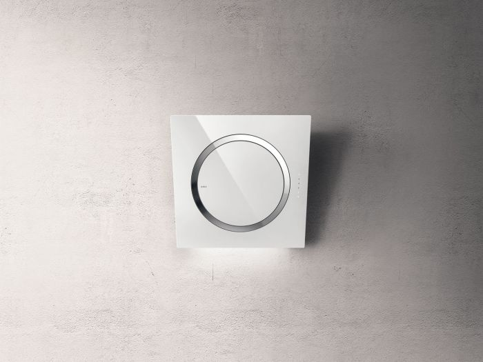 Elica Wall Mounted Hood IO-AIR-WH - White Glass Image 1