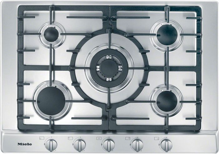 Miele Gas Hob KM2032SS - Stainless Steel Image 1