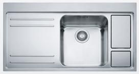 Franke 1.0 Bowl Sink LAX211W36L - Stainless Steel Image 1
