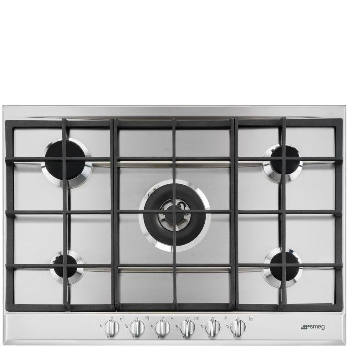 Smeg Gas Hob P272XGH - Stainless Steel Image 1