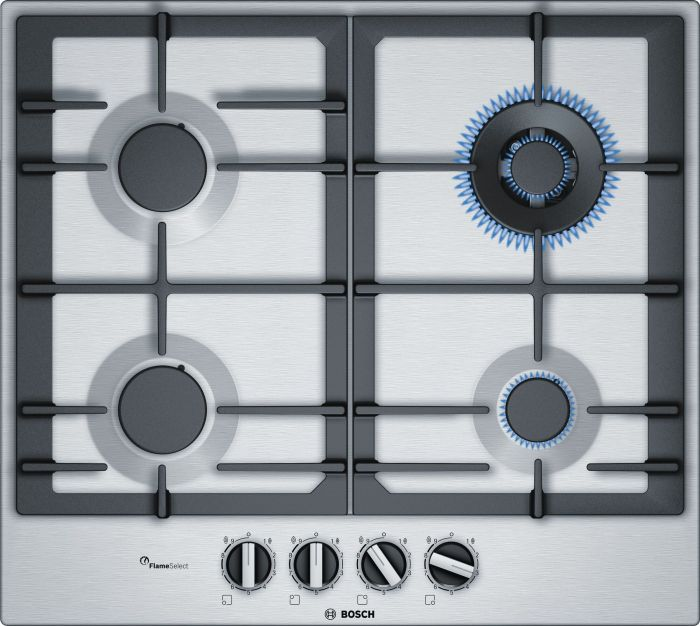 Bosch Gas Hob PCH6A5B90 - Stainless Steel Image 1