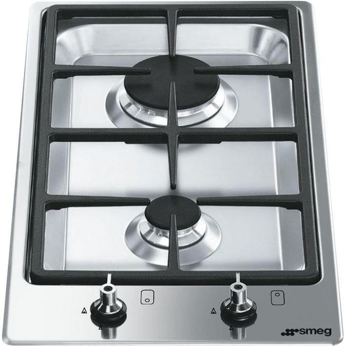 Smeg Gas Domino PGF32G - Stainless Steel Image 1