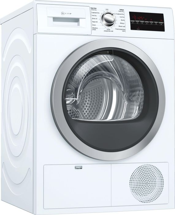 NEFF Freestanding Condenser Tumble Dryer R8580X3GB - White Image 1
